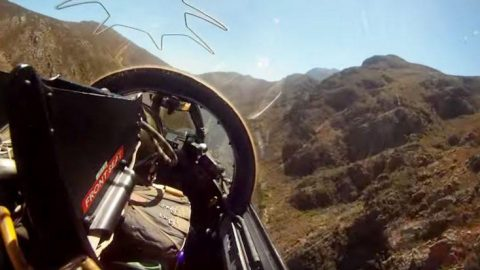 Rugged Buccaneer Blasts Through Jagged Canyon – Dangerously Low Flyby | Frontline Videos