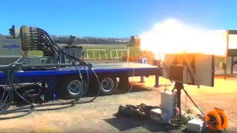 Devastating Firepower Of The Enormous Electromagnetic Railgun   Frontline Videos