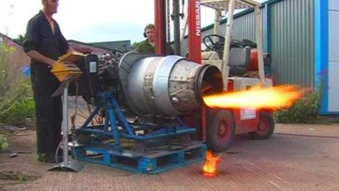This Backyard Jet Engine Startup Could Have Gone Better – Keep Your Eyes On The Forklift | Frontline Videos