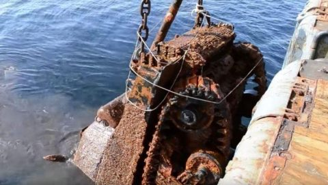 Sunken Ship Filled With WWII Tanks Raised From The Deep After 75 Years | Frontline Videos