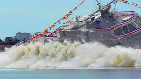 US Navy Launches Newest Combat Ship – But Not Everyone Is Happy About It | Frontline Videos