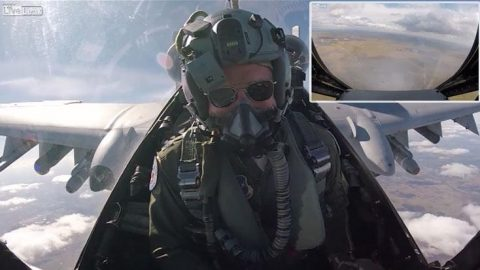 First Person View Of A-10 Pilot Emptying His Arsenal During Operation Guardian Blitz   Frontline Videos