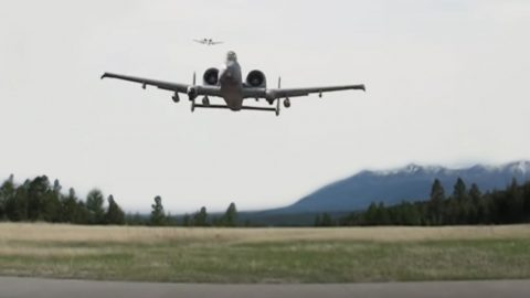 2 A-10s Surprise Guys Hiking In The Woods And Make Their Day | Frontline Videos