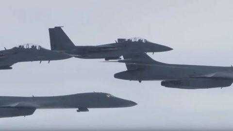 News | B-1 Bombers Drop 2,000 Lbs. Bombs On N.Korea's Doorstep | Frontline Videos