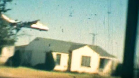 Rare Film Of Massive B-36 Blowing Antennas Off Fort Worth Roofs | Frontline Videos