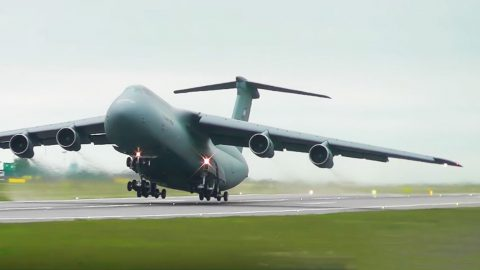 C-5 Galaxy Screams During Short Takeoff – You'll Barely Believe It Took Off Going That Slow | Frontline Videos