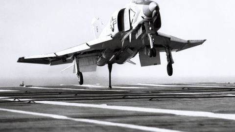 F-4 Slams Into Carrier Really Hard-The Damage Was Quite Unique | Frontline Videos