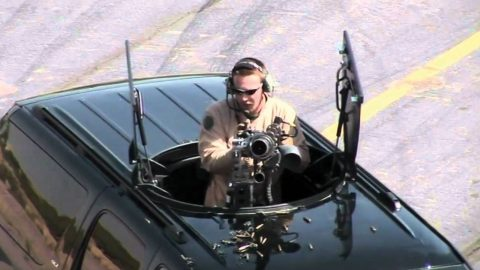 A Billionaire Needed Some Extra Security, So He Put A Gatling Gun In His Truck   Frontline Videos