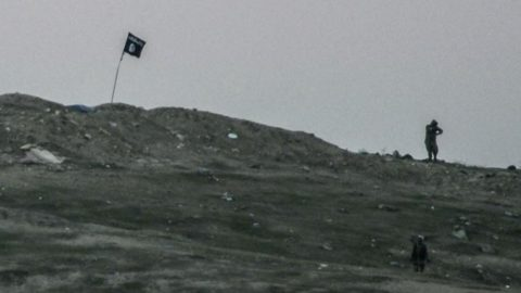 ISIS Put Their Flag On Top Of A Hill And Got Immediately Bombed To Hell | Frontline Videos