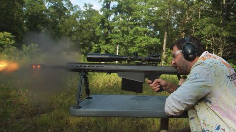 See How A .50 Cal Sniper Rifle Recoil Ripples Through A Human Body | Frontline Videos