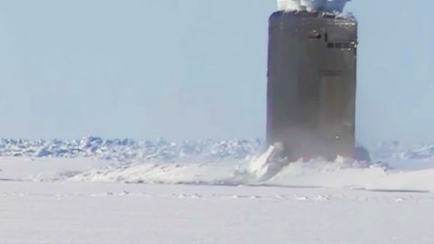 Watch How Easily A Nuclear Sub Can Break Through Thick Ice | Frontline Videos