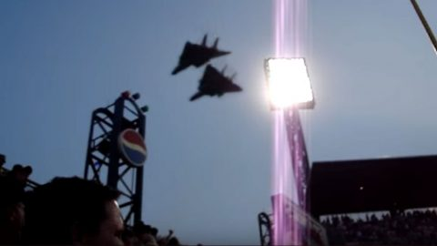 Fantastic Footage Of Two F-14 Tomcats Screaming Over Stadium-Makes Me Proud | Frontline Videos