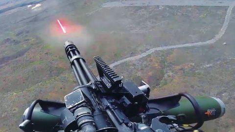 UH-1Y Venom   Firing The Powerful GAU-21 Gatling Gun & M134 Minigun   Frontline Videos