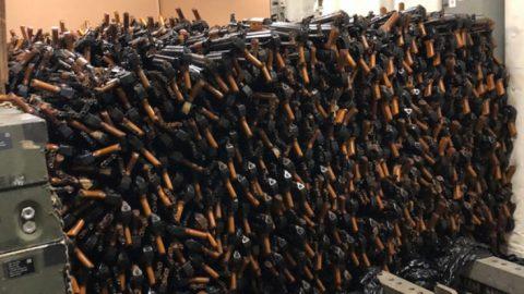 US Navy Destroyer Just Seized Massive Hoard Of AK-47s | Frontline Videos
