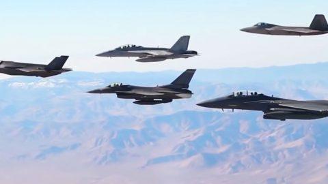 U.S.' Best Fighters Were Just Filmed Together In Formation For First Time Ever | Frontline Videos