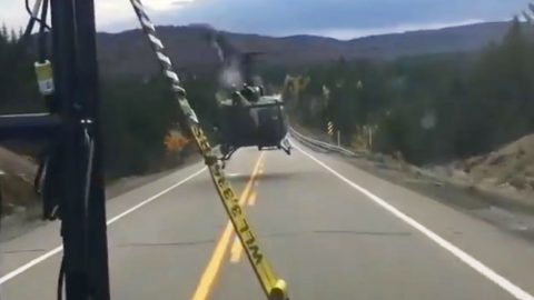 Dashcam Footage Shows A Guy Being Passed By A Huey | Frontline Videos