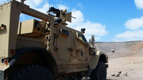 Here's Our Newest Military Vehicle Testing Its Remote .50 Cal   Frontline Videos