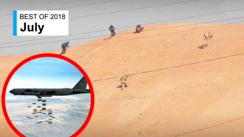 This Is ISIS Bunched Up On A Hill Before A B-52 Drops Its Load | Frontline Videos