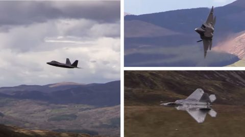 F-22s Were Finally Captured Doing The Famous Mach Loop | Frontline Videos