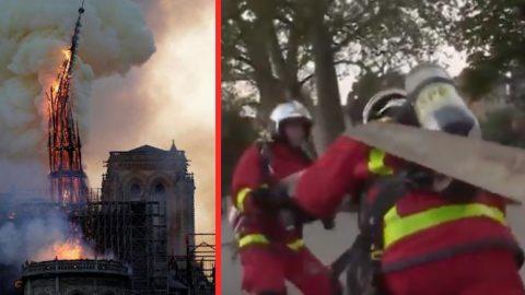 Notre Dame – Bodycam Captures Firefighters Battling Blaze | Frontline Videos