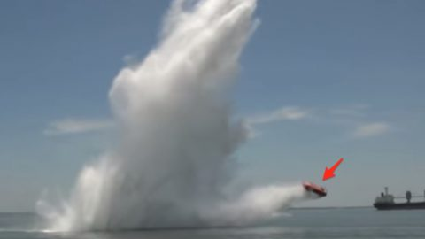 No, That's Not A Truck Being Launched In The Ocean | Frontline Videos