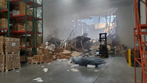 F-16 Fighter Jet Crashes Into A California Warehouse After Training Mission | Frontline Videos