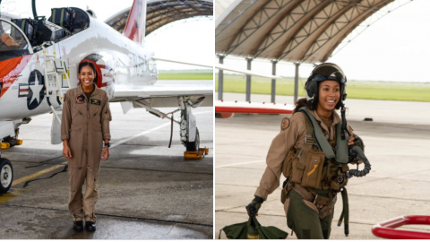 She Just Became The Navy's First Black Female Tactical Aircraft Pilot – L.T. j.g. Madeline Swegle | Frontline Videos