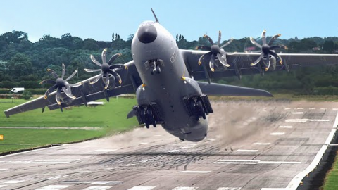 UK Pilots Playing With Their New Gigantic A-400M AirCraft | Frontline Videos