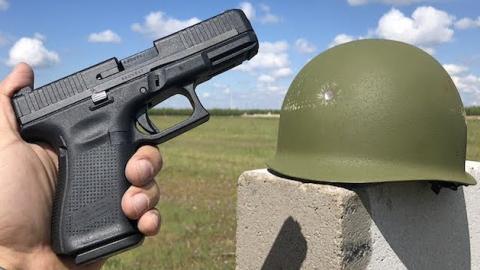 Vietnam Era USMC M1 Helmet vs Glock | Frontline Videos