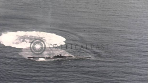 Partially Sunken Japanese Submarine Explodes After Being Hit by a Torpedo | Frontline Videos