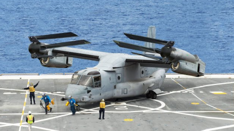 The $70 Million US Transformer Helicopter in Action on US Aircraft Carrier | Frontline Videos