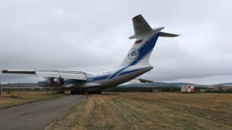 An Ilyushin Il-76 Plane LOSES CONTROL upon landing and veers off the runway   Frontline Videos