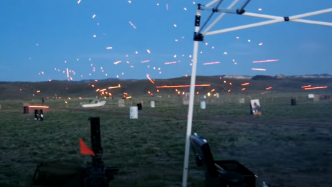 1,000's of Tracer Rounds With Machine Guns | Frontline Videos