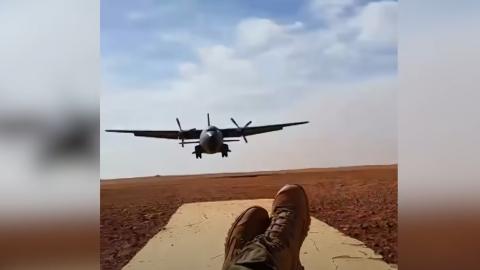 Soldier Plays Chicken With Landing C-160 | Frontline Videos